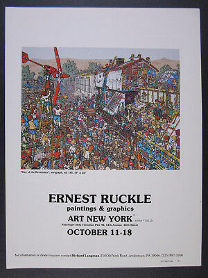 1980 Ernest Ruckle Day of the Revolution serigraph offer vintage print Ad