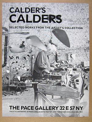 1985 Alexander Calder in studio photo Pace Gallery vintage print Ad