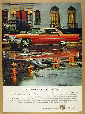 1965 Cadillac Sedan Deville bronze car color photo vintage print Ad