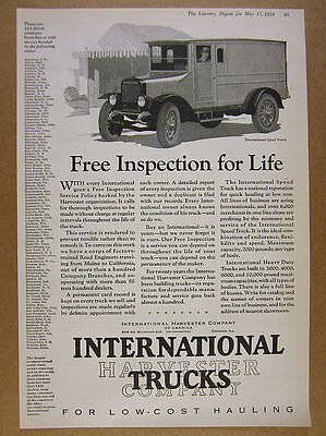 1924 IH International Harvester Speed Truck illustration art vintage print Ad