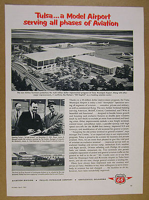 1962 Tulsa ok airport 'New' Airline Terminal building Phillips 66 vintage (66 Building Terminal)