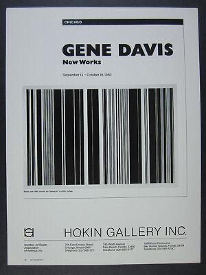 1980 Gene Davis Black Jack painting New Works exhibition vintage print Ad