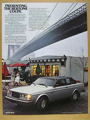1979 Volvo Bertone Coupe under Brooklyn Bridge photo vintage print Ad