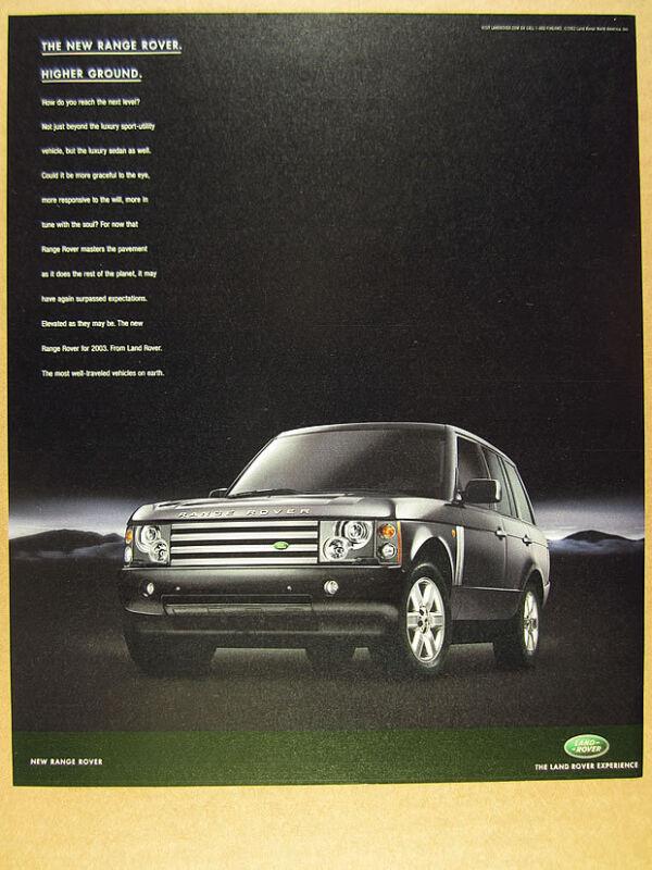 2003 Land Rover RANGE ROVER photo print Ad