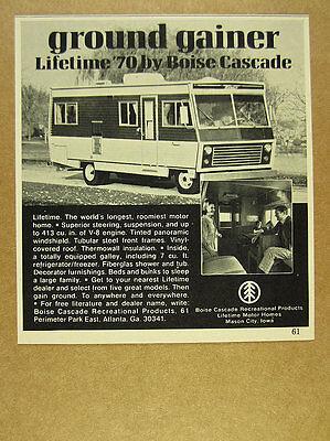 1970 Boise Cascade LIFETIME Motor Home RV photo vintage print Ad