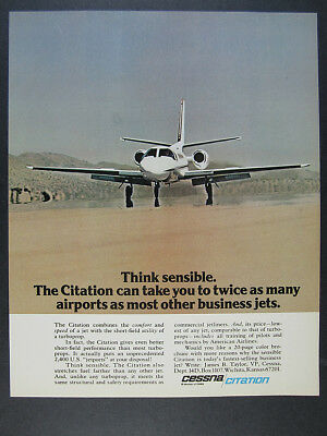 1975 Cessna Citation I Business Jet color photo vintage print Ad ()