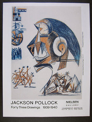 1985 Jackson Pollock Forty Three Drawings 1939-1940 exhibition vintage print Ad