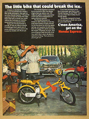 1977 Honda NC50 Express Scooter garage motorcycles photo vintage print Ad