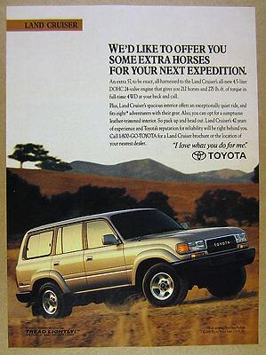 1993 Toyota LAND CRUISER color photo landcruiser vintage print Ad