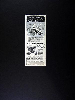 1962 Cushman Super Eagle Scooter vintage print Ad