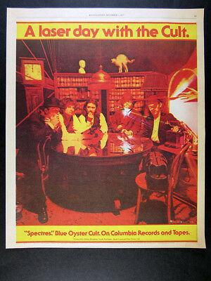 1977 Blue Oyster Cult Spectres album promo vintage print Ad