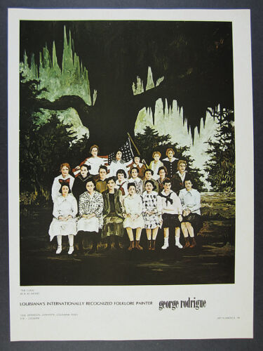 1972 George Rodrigue The Class painting vintage print Ad