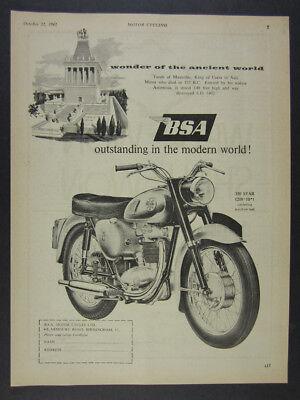 1961 BSA 350 Star Motorcycle illustration art vintage print Ad