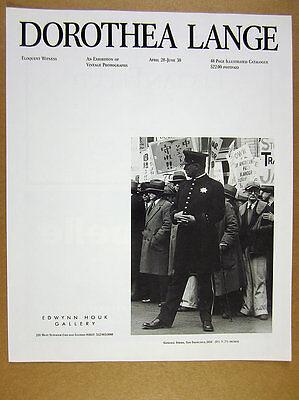 1989 Dorothea Lange photo exhibition Chicago gallery vintage print Ad