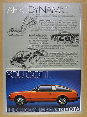 1979 Toyota Celica GT Liftback color photo vintage print Ad