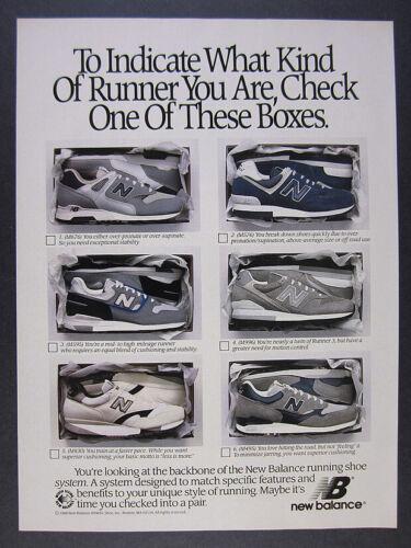 1989 New Balance M 676 576 595 996 830 495 Running Shoes vintage print Ad