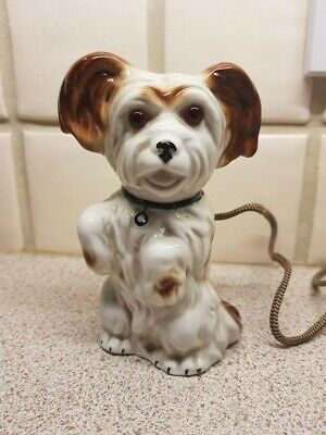 Vintage china novelty dog lamp, rare and very unusual, excellent condition