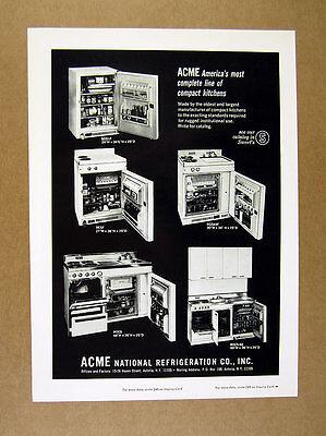 1965 Acme Refrigeration Compact Kitchens 6 models photo print Ad