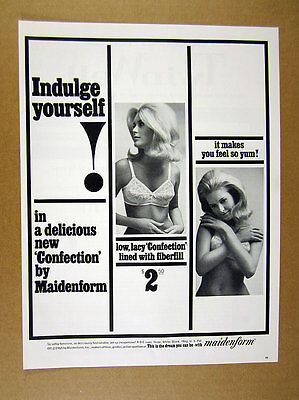 1965 pretty Woman photo Maidenform Bras Confection Bra vintage print Ad