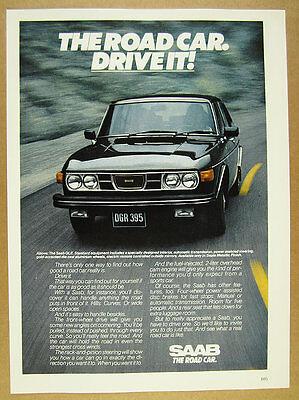 1976 Saab GLE color photo vintage print Ad