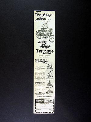 1962 Triumph Motorcycles vintage print Ad