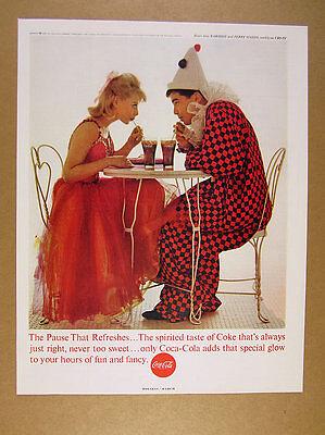 1963 Coke Coca-Cola cute couple costumes teens date photo vintage print Ad - Teen Couple Costumes