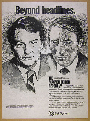 1981 The Macneil Lehrer Report Newshour Pbs Show Promo Vintage Print Ad