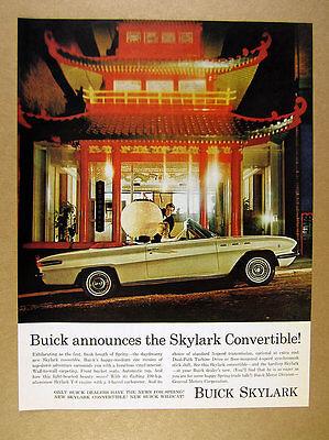 1962 Buick Skylark Convertible chinese pagoda color photo vintage print -