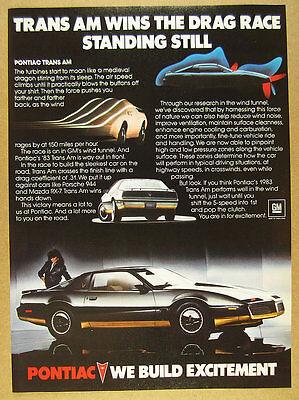 1983 Pontiac Trans-Am black & gold car photo vintage print Ad