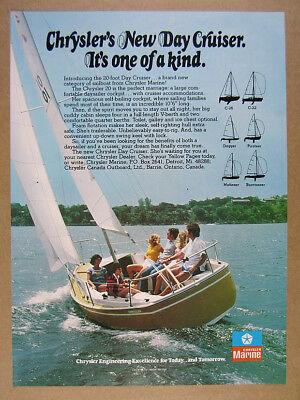 1977 Chrysler Day Cruiser 20 ft Sailboat photo vintage print Ad