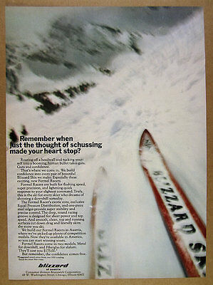 1970 Blizzard FORMEL RACER Downhill & Slalom Skis photo vintage print Ad ()