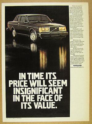 1981 Volvo Bertone Coupe black car photo vintage print Ad