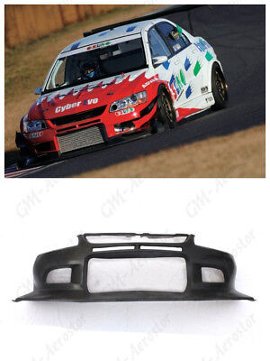FRP VTX Cyber Version Style Front Bumper For 04-07 Mitsubishi Lancer EVO 8-9 -