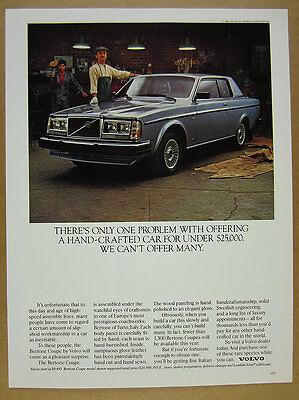 1981 Volvo Bertone Coupe blue car color photo vintage print Ad