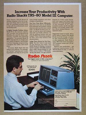 1981 Radio Shack TRS-80 Model III 32K Computer vintage print Ad
