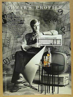 1988 Peter Norton photo profile Dewar's White Label Scotch vintage print Ad