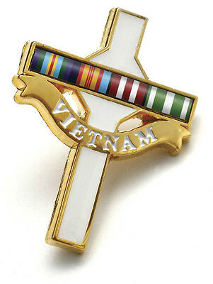 VIETNAM VETERANS DAY BADGE - LONG TAN CROSS WITH RIBBON BAR ANZAC BADGE - Veterans Day Ribbon