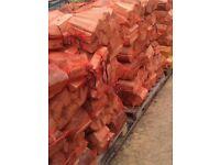 Seasoned logs nets half and full truck loads
