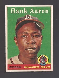 1958 TOPPS NO. 30 HANK AARON  WELL CENTERED