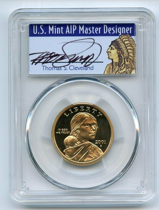 2002 S $1 Sacagawea Dollar PCGS PR69DCAM Thomas Cleveland