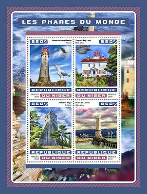 NIGER 2017 LIGHTHOUSES ARCHITECTURE LIGHTHOUSE S/S NIG16623