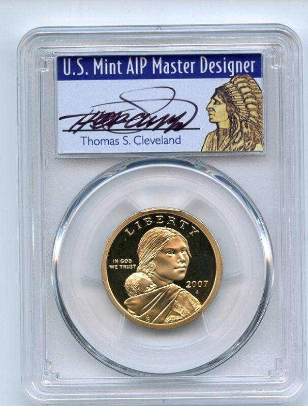 2007 S $1 Sacagawea Dollar PCGS PR70DCAM Thomas Cleveland