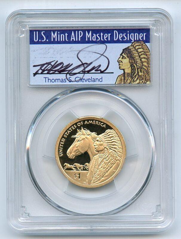2012 S $1 Sacagawea Dollar PCGS PR69DCAM Thomas Cleveland