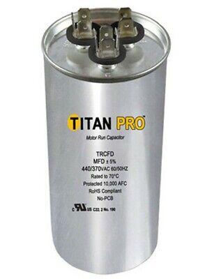 Round Dual Motor Run Capacitor 440/370V 45+5MFD MFD Air Conditioner Titan PRO for sale  Rockville