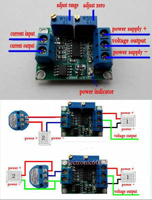 Current to Voltage 4-20mA to 0-10V 0-5V Isolation Transmitter Signal - Current To Voltage Converter