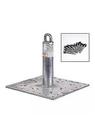 Guardian Galvanized Steel Roof Anchor 420 Lb.metal 00645-m Silver No Hw