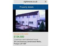 WALES.. House 3 bedrooms for sale