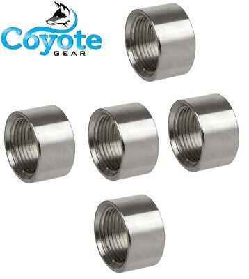 5 Pack 12 Npt - 304 Stainless Steel Half Coupling Weld Bungs 150 Coyote Gear