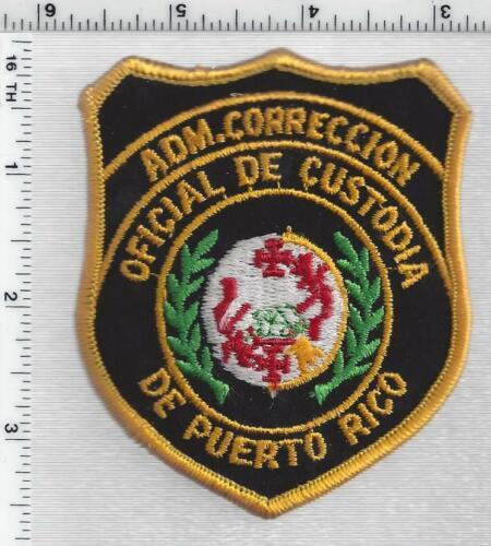 Oficial de Custodia de Puerto Rico Adm, Correccion 1st Issue Shoulder Patch