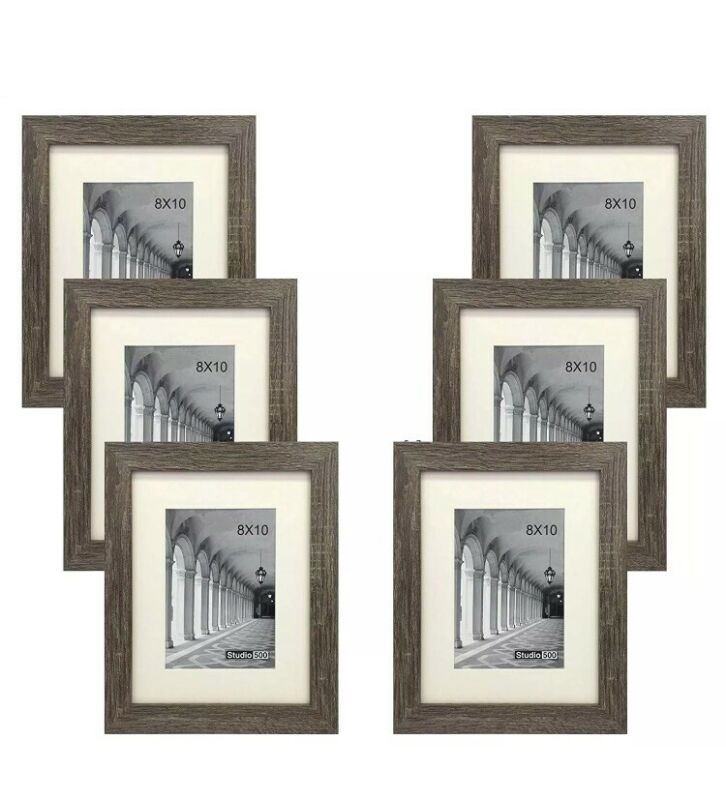 STUDIO 500 6-PACK~8x10-inch Distressed Grey Picture Frames BUY 1 GET 1 HALF OFF